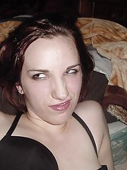 Pretty chick gets cum on face