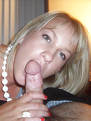 Hot chick in pink panties gives her boyfriend a blowjob