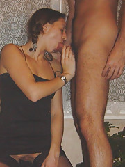 Dick-sucking babe sucks hard cock and gets fucked