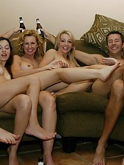 A sizzling hot hardcore bachelor party orgy