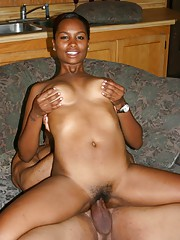 Sexy big tit black whore with a plump little rump gets juicy pussy slammed hard