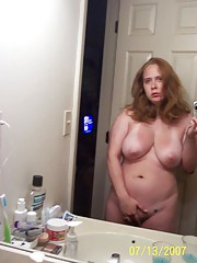 Ginger BBW getting her pussy fucked