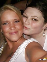 BBW frat chicks with big tits partying out