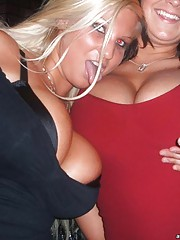 Hot BBW  girls partying wild at the bar