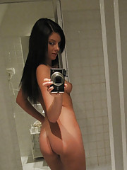 Chekc out these sexy amateur girlfriends strip naked in these hot smoking pics