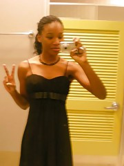 black girl gets out of her dinner dress