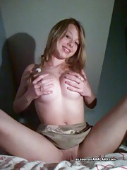 Photo collection of a naked busty amateur honey