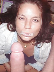 Picture collection of wild bitches who got cum-drenched and loving it