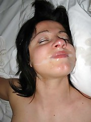Picture gallery of steamy hot and sticky jizz facials