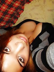 Picture collection of an amateur busty girlfriend camwhoring