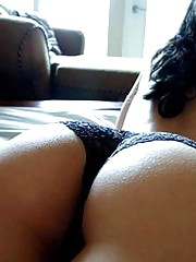 Hot Latina with juicy booties in the bedroom