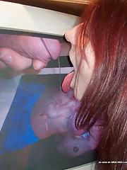 Picture collection of a hardcore chick poking her ass