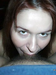 Picture selection of horny girlfriends who go crazy sucking cocks
