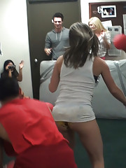 Check out this hot fucking real amateur dorm room girl party hot real college fucking action