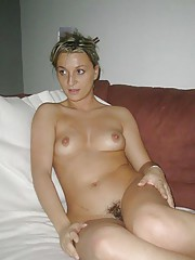 Picture selection of an amateur naked wife in her sleazy photoshoot