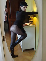 Picture selection of an amateur Russian wife posing for her hubby