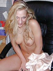 Picture collection of an amateur sultry MILF posing for her husband
