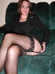 Picture compilation of an amateur sexy wife in her black lingerie