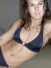 Picture collection of an amateur MILF in her sexy bikini
