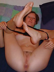 Photo selection of a sexy naked wife getting fucked