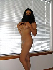 Photo collection of an amateur naked heavy-chested girlfriend