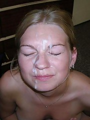 Picture collection of amateur kinky jizzed on skanky chicks