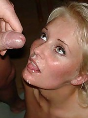 Picture gallery of naughty amateur GFs enjoying hot cumshots