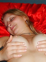 Picture collection of a kinky hot babe who got facialed