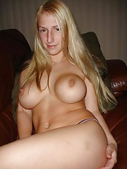 Picture collection of an amateur sleazy chick who got jizzed on