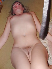 Photo selection of hot and messy jizzed on babes