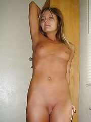 Picture collection of an amateur cum-drenched naked bitch