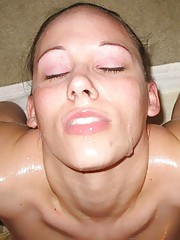 Picture gallery of an amateur kinky slut who got facialed