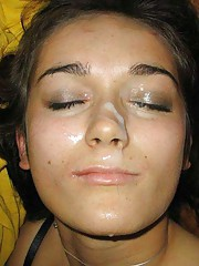 Picture collection of wild babes enjoying cum on themselves