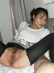 Picture compilation of two hot kinky amateur Asian bitches