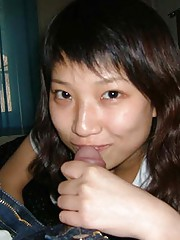 Photo collection of amateur kinky cocksucking Oriental GFs