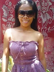 Picture collection of an amateur kinky Filipina showing her cunt and tits