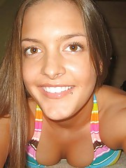 Picture collection of a hot Spanish bikini chick