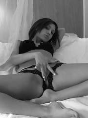 Picture compilation of a Latina hottie in black and white