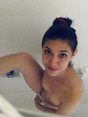 Picture collection of an amateur Latina GF who got naked