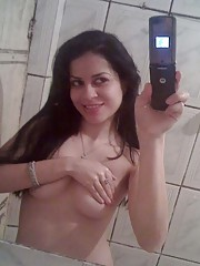 Picture collection of an amateur Latina who got kinky with her toy