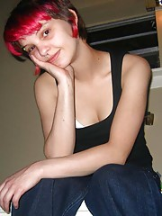 Picture collection of a punk babe spreading her legs