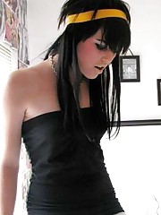 Nice collection of a sexy amateur emo babe