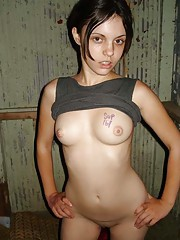 Picture collection of a sleazy sex with an emo bitch