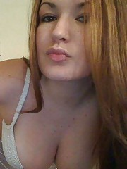 Photo set of a chubby busty amateur babe