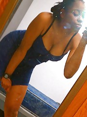 Photo gallery of a camwhoring sexy nubian babe