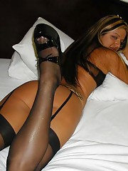 Picture collection of a babe in her raunchy lingerie