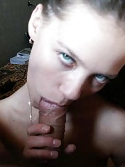Picture set of an amateur babe sucking a cock like a lollipop