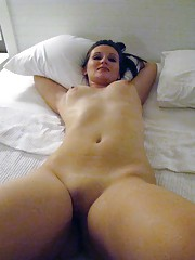 Picture collection of a kinky GF who spreads her legs and gets fucked