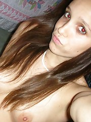 Picture collection of an amateur teen babe selfshooting
