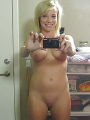 Photo collection of a naked sexy blondie camwhoring